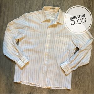 Vintage Christian Dior Chemise Striped Button-Down